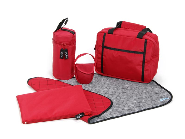 Grab 'n Go Travel Essentials - Red (with red pacifier)