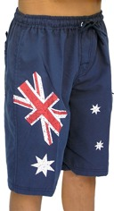 Boys Shorts Aussie Flag Logo