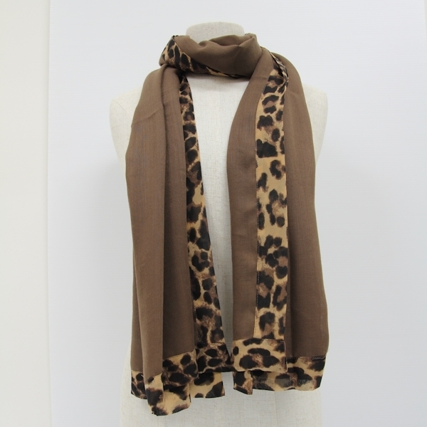Womens Scarves with Leopard Print