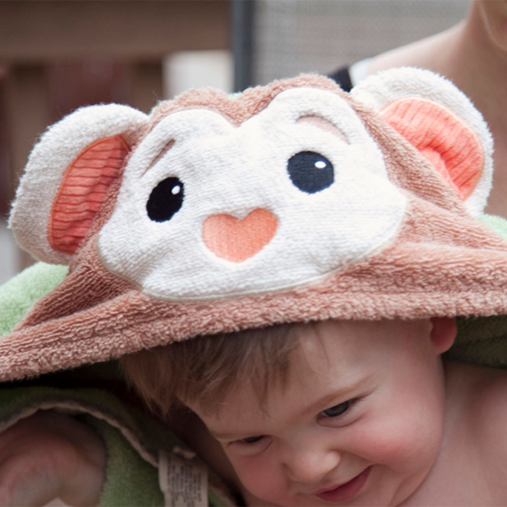 Baby Hooded Bath Towel by Apple Park