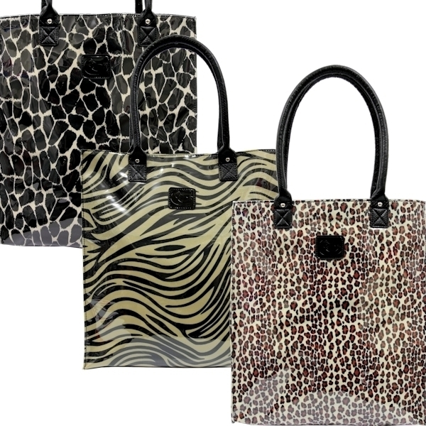 Shopper Tote Bag Animal Print Sassy Duck