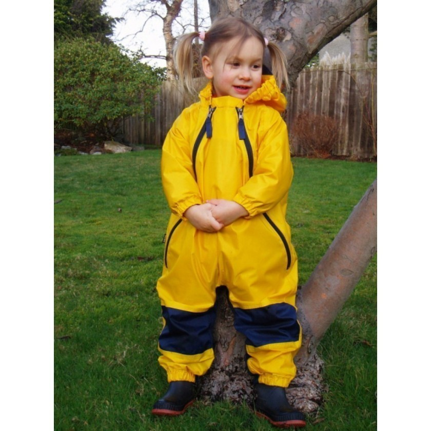 Muddy Buddy All in One Rainsuit Coverall Yellow TUFFO