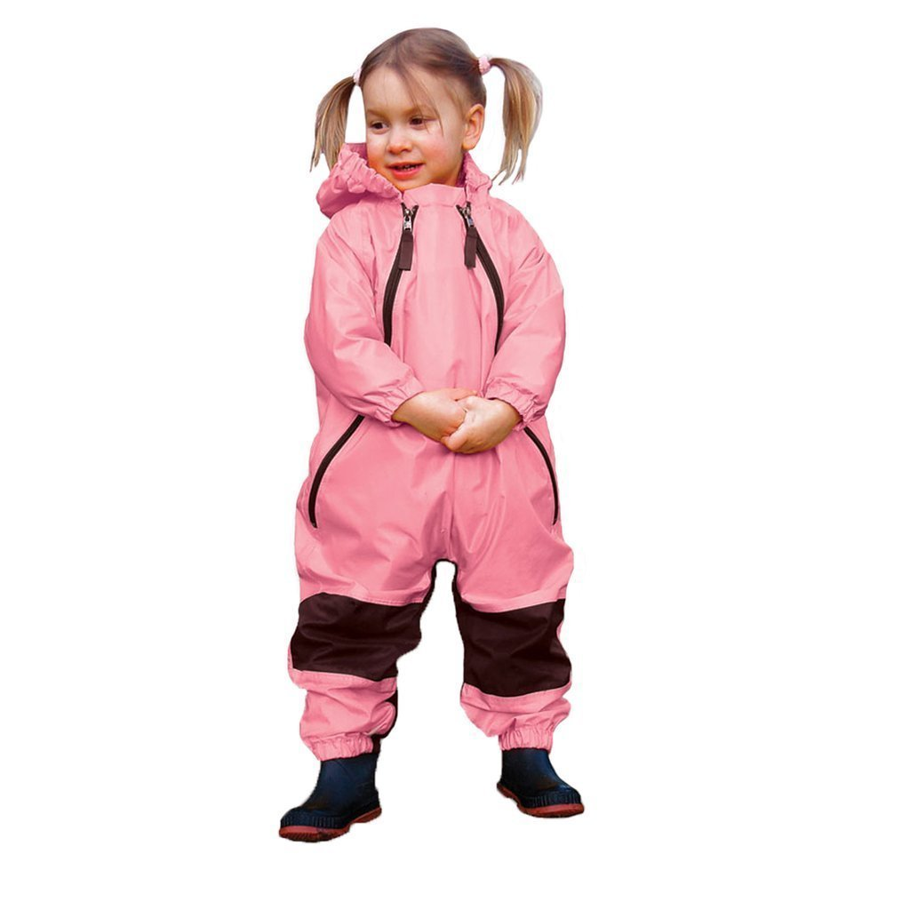 Muddy Buddy All in One Rainsuit Coverall Pink TUFFO